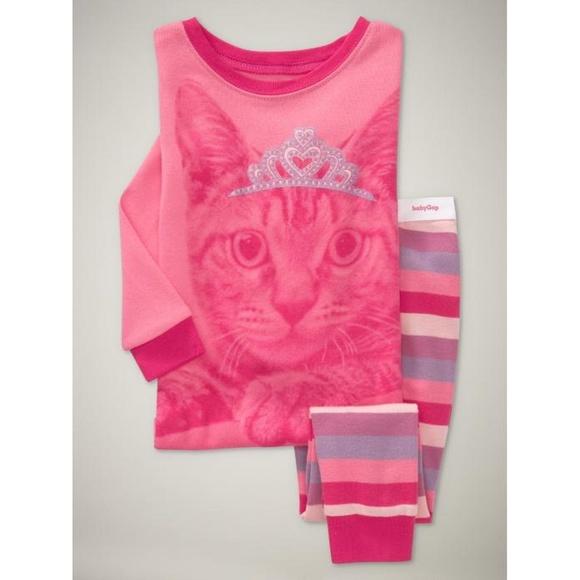 4f8fc1746 Gap Pajamas   Baby Pink Princess Kitty Cat 1218   Poshmark